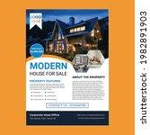 real estate flyer template...   Shutterstock .eps vector #1982891903
