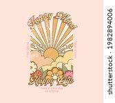 happy mind happy life slogan... | Shutterstock .eps vector #1982894006