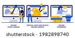 online music lessons  virtual...   Shutterstock .eps vector #1982898740