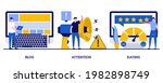 blog  attention  rating concept ...   Shutterstock .eps vector #1982898749