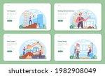 civil engineer web banner or... | Shutterstock .eps vector #1982908049