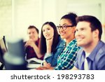 education concept   students... | Shutterstock . vector #198293783