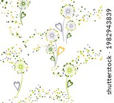 dandelion flowers unusual... | Shutterstock .eps vector #1982943839