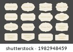 set of vintage labels and frame. | Shutterstock .eps vector #1982948459