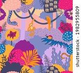 jungle seamless pattern. baby... | Shutterstock .eps vector #1982955809