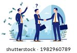 unethical business scamming... | Shutterstock .eps vector #1982960789