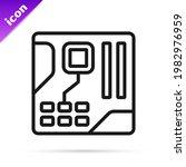 black line electronic computer...   Shutterstock .eps vector #1982976959