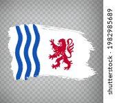 flag of nouvelle aquitaine...