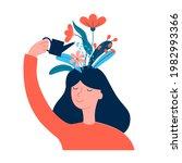 happy woman  girl care of...   Shutterstock .eps vector #1982993366