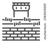 prison square line vector icon. | Shutterstock .eps vector #1983035009