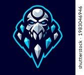 frost skull head mascot logo... | Shutterstock .eps vector #1983046946
