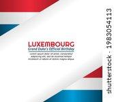 vector graphic of luxembourg...   Shutterstock .eps vector #1983054113