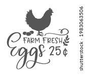 farm fresh eggs inspirational... | Shutterstock .eps vector #1983063506