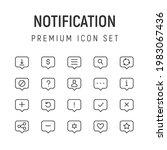 premium pack of notification...
