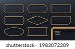 set of realistic golden metal... | Shutterstock .eps vector #1983072209