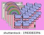 retro style desktop with...