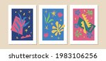 cutouts poster isolated. trendy ... | Shutterstock .eps vector #1983106256