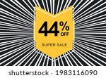 44  off. black banner with... | Shutterstock .eps vector #1983116090