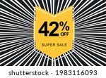 42  off. black banner with... | Shutterstock .eps vector #1983116093