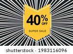 40  off. black banner with... | Shutterstock .eps vector #1983116096