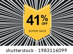 41  off. black banner with... | Shutterstock .eps vector #1983116099