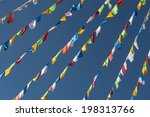 prayer flags  | Shutterstock . vector #198313766
