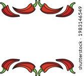 decorative hot peppers. vector...   Shutterstock .eps vector #1983146549