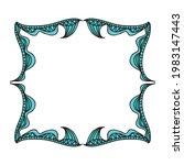 nature decorative frame. vector ...   Shutterstock .eps vector #1983147443
