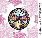 decorative pattern butterfly....   Shutterstock .eps vector #1983147719
