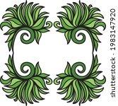 nature decorative frame. vector ...   Shutterstock .eps vector #1983147920