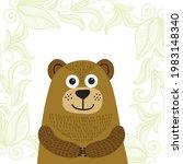 cute cartoon bear. vector...   Shutterstock .eps vector #1983148340