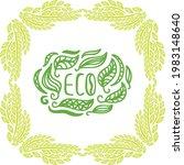 decorative pattern title eco....   Shutterstock .eps vector #1983148640