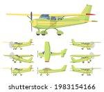 light aircraft  green  yellow... | Shutterstock .eps vector #1983154166
