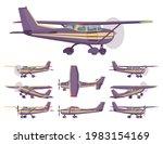 light aircraft  stripe plane... | Shutterstock .eps vector #1983154169