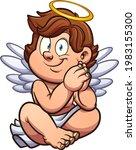 Cute Cartoon Angel Or Cherub...