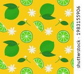 summer seamless pattern with... | Shutterstock .eps vector #1983155906