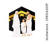 islamic pilgrimage illustration ...   Shutterstock .eps vector #1983161039