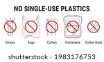 no single use plastics. ban on... | Shutterstock .eps vector #1983176753