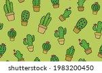 Cactus  Succulents Seamless...