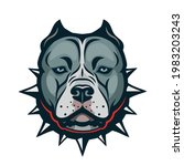 american bully dog isolated... | Shutterstock .eps vector #1983203243