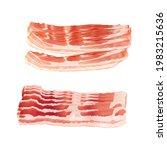 raw smoked bacon set  streaky... | Shutterstock .eps vector #1983215636