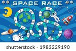 snake and ladders game template ...   Shutterstock .eps vector #1983229190