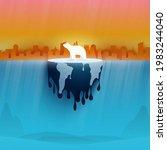 polar bear on melting earth... | Shutterstock .eps vector #1983244040