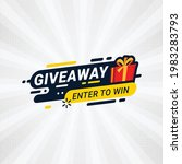 giveaway and enter to win... | Shutterstock .eps vector #1983283793