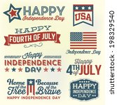 happy independence day   fourth ... | Shutterstock .eps vector #198329540