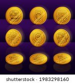 set of gold coins with mayan or ...
