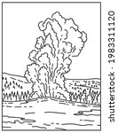a cone geyser called old... | Shutterstock .eps vector #1983311120