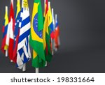 flags in the mast of america... | Shutterstock . vector #198331664