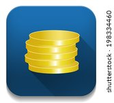 coins icon with long shadow... | Shutterstock .eps vector #198334460