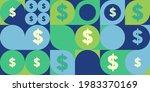 money. vector flat illustration.... | Shutterstock .eps vector #1983370169